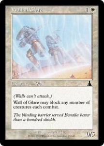 Wall of Glare from Urza's Destiny could Block Any Number of Attackers