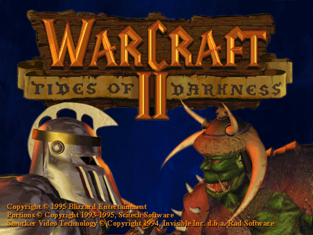 Warcraft II: Tides of Darkness Title Screen