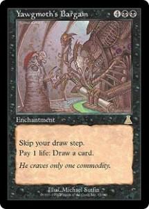 Yawgmoth's Bargain from Urza's Destiny was the New Necropotence
