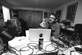 Marc Maron recording a Podcast