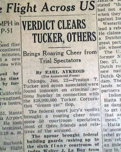 Preston T. Tucker and seven associates were found innocent