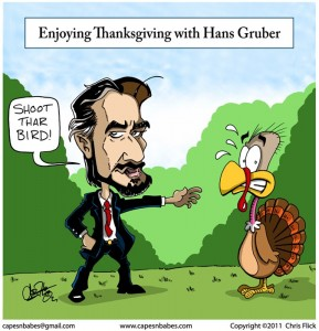 Enjoying Thanksgiving with Hans Gruber