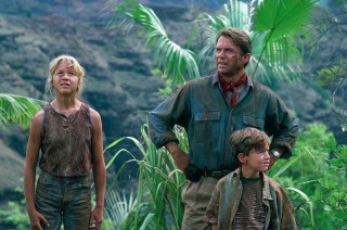 Dr Alan Grant with the Kids in Jurassic Park