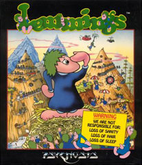 Lemmings Front cover Box Scan
