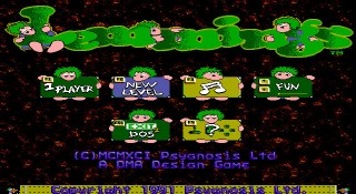 Lemmings Home Screen