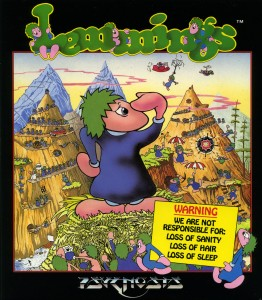 Lemmings front Cover with Warning