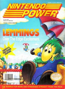 Lemmings made the cover of Nintendo Power