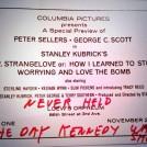 Dr Strangeloves release was delayed because of JFKs Assassination