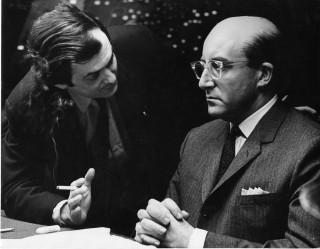 Stanly Kubrick with Peter Sellers as President Merkin