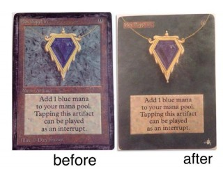 Altering one of the Power Nine a Mox Sapphire