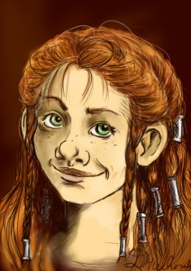 Little dwarf lady - Portrait by DajaBeeSensei