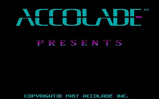 Accolade Logo screen from Test Drive