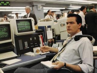 Charlie Sheen as Bud Fox in Wall Street