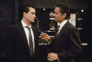 Gekko and Fox in Wall Street
