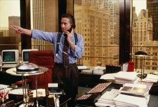 Gordon Gekko in his Wall Street Office
