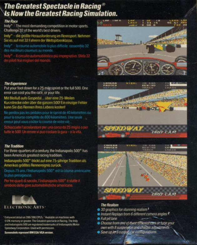How To Start A Stick Shift >> Revisiting Indianapolis 500: The Simulation from 1989 A Retro Game Review   Agent Palmer