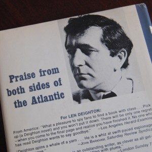 Len Deighton recieved praise from both sides of the Atlantic