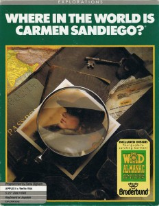 Original 1985 Where in the World is Carmen Sandiego? Box Art