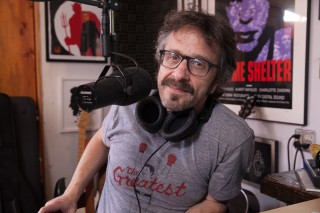 Marc Maron in his Garage Studio