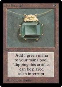 Mox Emerald of the Magic the Gathering Power Nine