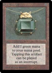 Mox Emerald of the Magic the Gathering Power Nine