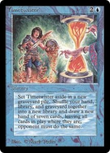 Timetwister of the Magic the Gathering Power Nine