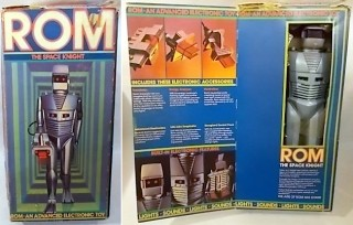 A Mint in Box ROM Spaceknight Toy