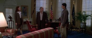 David, his father, and his ex-wife in the Oval Office - Independence Day
