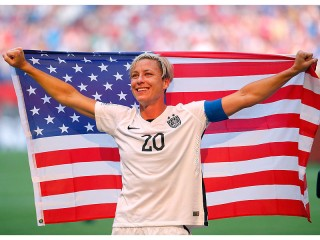 Abby Wambach after the Cup was Won