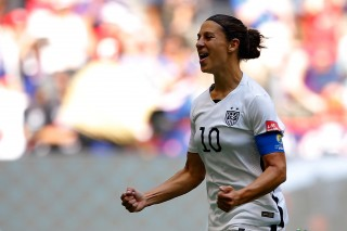 Carli Lloyd of the USWNT