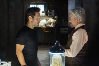 Michael Douglas and Paul Rudd in Ant-Man