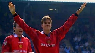 Young David Beckham after his long goal
