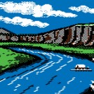A River Crossing on The Oregon Trail