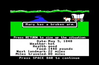 Mary has a broken arm