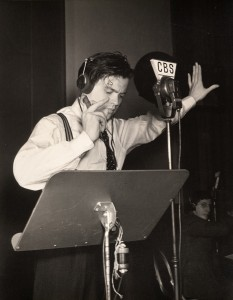 Orson Welles during the War of the World Radio Broadcast