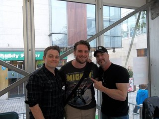 Danny Yates with Greg Capullo and Scott Snyder