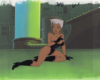 An animation cel of Virus from Spicy City