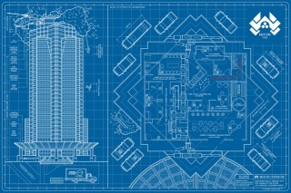 Die Hard Nakatomi Plaza Blue Print Story Board