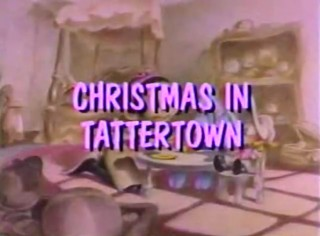 The Title Card to Christmas in Tattertown