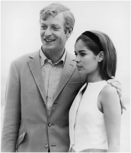 Michael Caine with Bianca on the set of 1969's The Italian Job