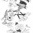 Harlem Shuffle Nerd Cat Sketches