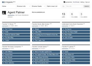 Agent Palmer's List Geeks