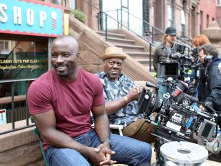 Luke and Pop Behind the Scenes of Luke Cage