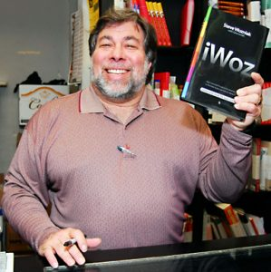 Woz with his book