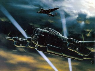Painting of a Lancaster Bombers