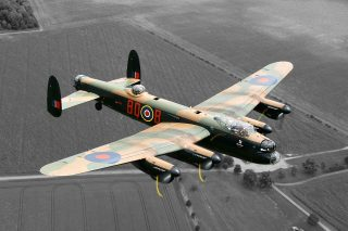 Photograph of a Lancaster Bomber