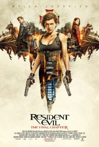 Resident Evil The Final Chapter Official Movie Poster