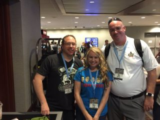 Dan with Ginger and Paula at Podcast Movement 2016