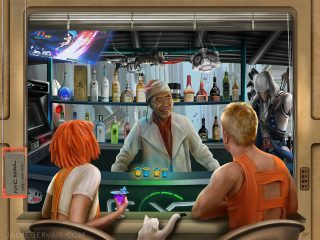 Exp Restaurant and Bar meets the Fifth Element by Jaime Gervais