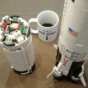 The Building of a LEGO Saturn V Rocket